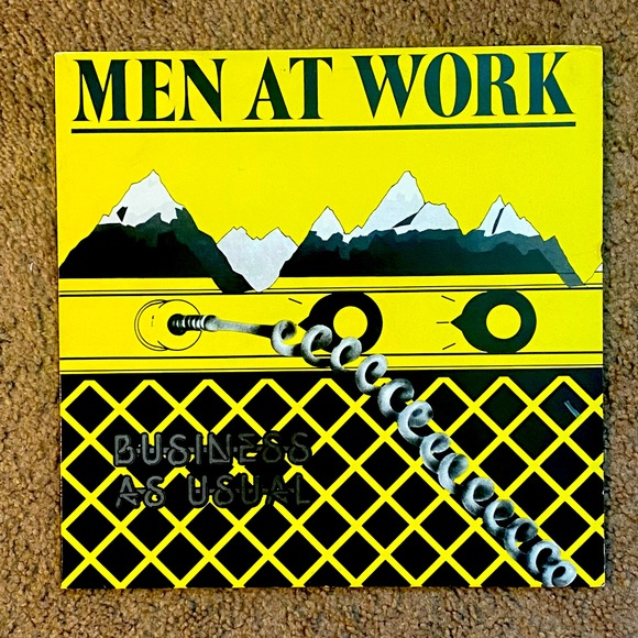 MEN AT WORK - BUSINESS AS USUAL LP 1982